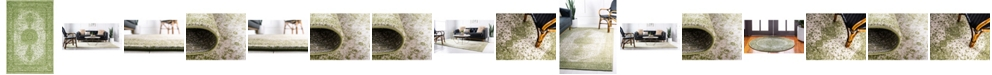 Bridgeport Home Mobley Mob1 Green Area Rug Collection