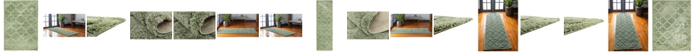 Bridgeport Home Filigree Shag Fil2 Green Area Rug Collection