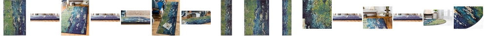 Bridgeport Home Newwolf New4 Navy Blue Area Rug Collection