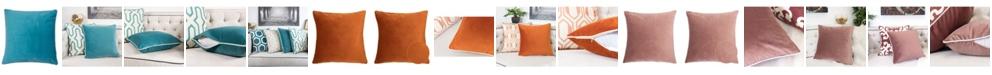Homey Cozy Skylar Velvet Square Decorative Throw Pillow
