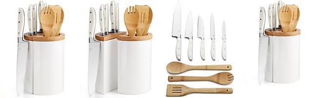 Martha Stewart Collection 10-Piece Crock and Block Cutlery Set