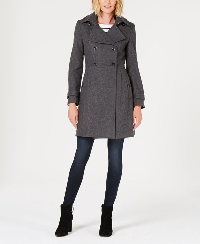 Tommy Hilfiger Double Ted Peacoat, Tommy Hilfiger Peacoat Macys