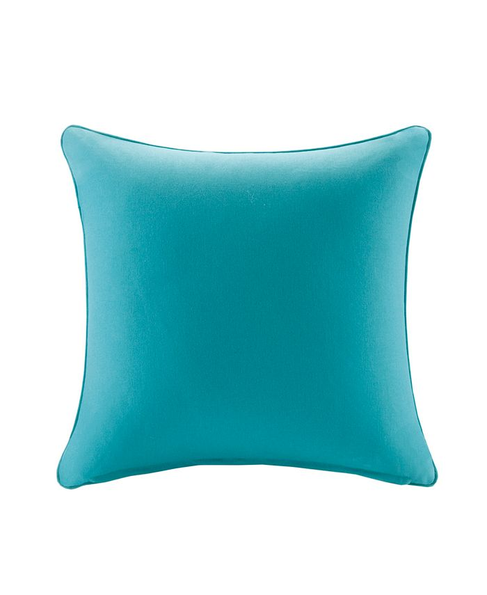 """Madison Park - Pacifica 20"""" x 20"""" Solid 3M Scotchgard Outdoor Square Pillow"""