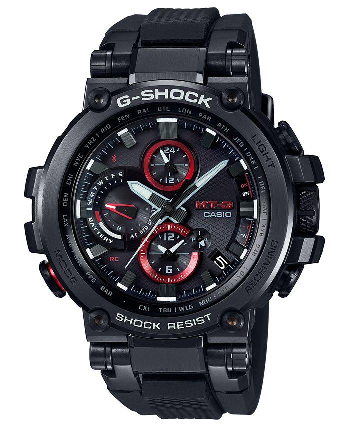 G-Shock - Men's Solar Analog-Digital Black Resin Strap Watch 51.7mm