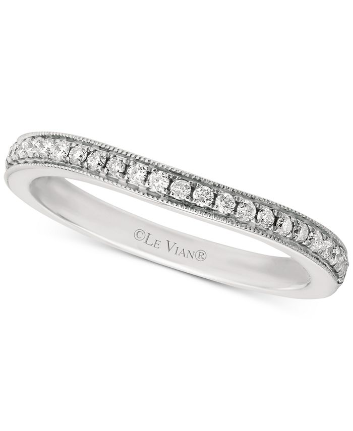 Le Vian - Diamond Beaded Edge Band (1/5 ct. t.w.) in 14k White Gold