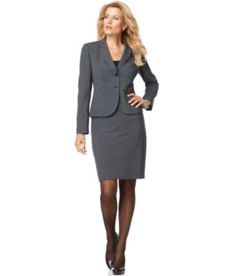 Calvin Klein Two Button Blazer & Pencil Skirt