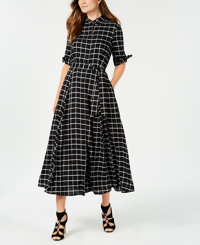 Calvin Klein - New Plaid Maxi Shirtdress