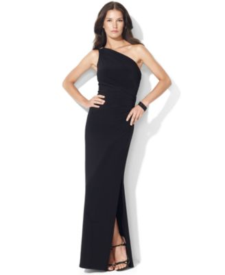 Lauren Ralph Lauren OneShoulder Evening Gown