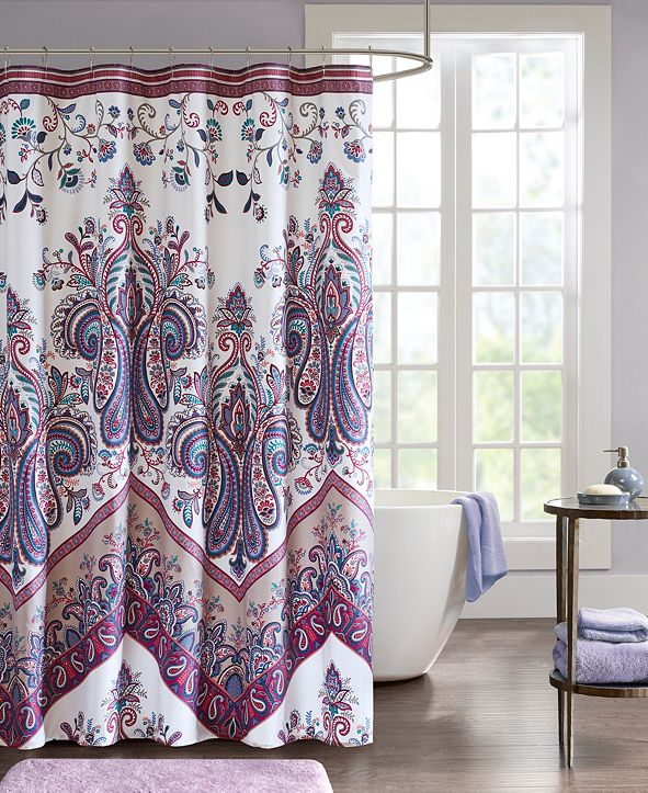 """Intelligent Design Tulay 72"""" x 72"""" Printed Shower Curtain"""