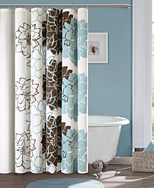 "Madison Park Lola 72"" x 72"" 100% Cotton Floral Printed Shower Curtain"