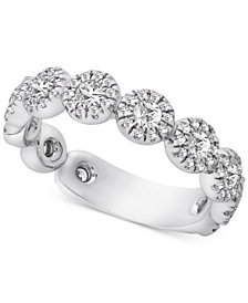 Diamond Halo Band (1 ct. t.w.) in 14k White Gold