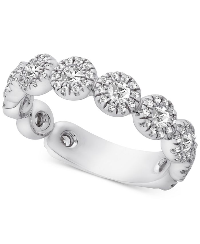 Macy's - Diamond Halo Band (1 ct. t.w.) in 14k White Gold