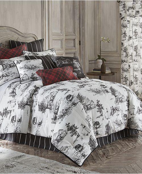 Ralph Lauren Toile Bedding, Black And Cream Toile Queen Bedding