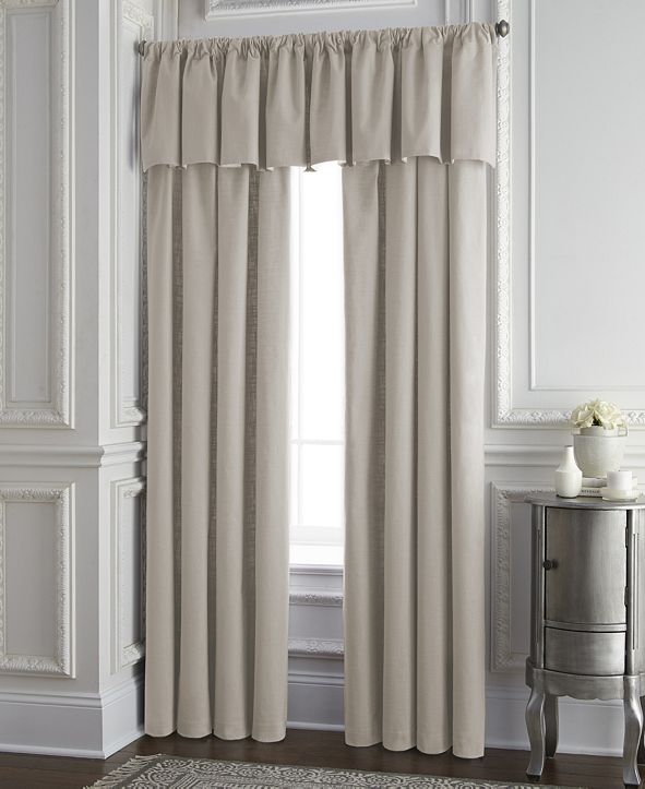 """Colcha Linens Cambric Natural Lined Drapery Panel 52""""x84"""" - Each"""