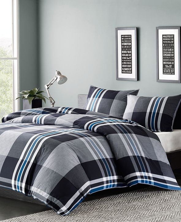 INK+IVY Nathan 3-Pc. Full/Queen Duvet Cover Mini Set