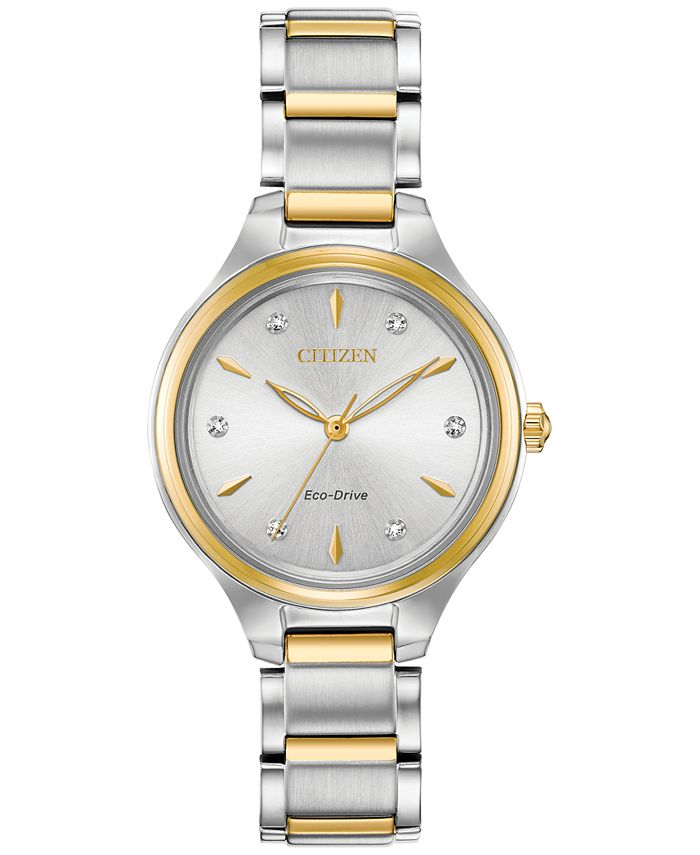 Citizen - Women's Corso Diamond-Accent Two-Tone Stainless Steel Bracelet Watch 29mm