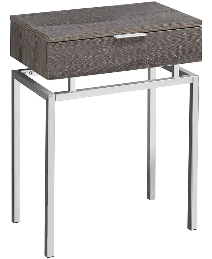 """Monarch Specialties - Accent Table - 24""""H Dark Taupe Chrome Metal"""