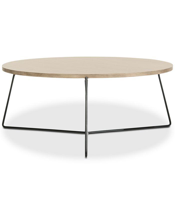 Safavieh - Mae Wood Coffee Table, Quick Ship