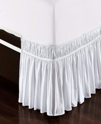 Wrap Around Bed Skirt, Elastic Dust Ruffle Easy Fit, Wrinkle and Fade Resistant - Twin/Full