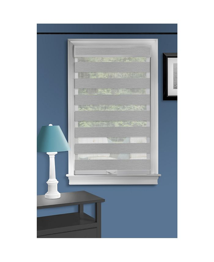 Achim - Cordless Celestial Sheer Double Layered Shade 39x72 - White