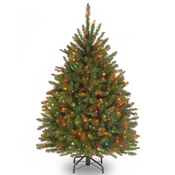 National Tree Company National Tree 4.5' Dunhill Fir Tree with 450 Multicolor Lights