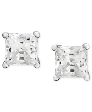 Diamond Earrings, 14k White Gold Near Colorless Princess Cut Diamond Studs (2 ct. t.w.)