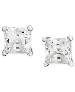 Diamond Earrings, 14k White Gold Near Colorless Princess Cut Diamond Studs (2 ct. t.w.)