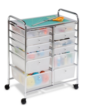 Honey Can Do Home Office Organization Cart, 12 Drawer