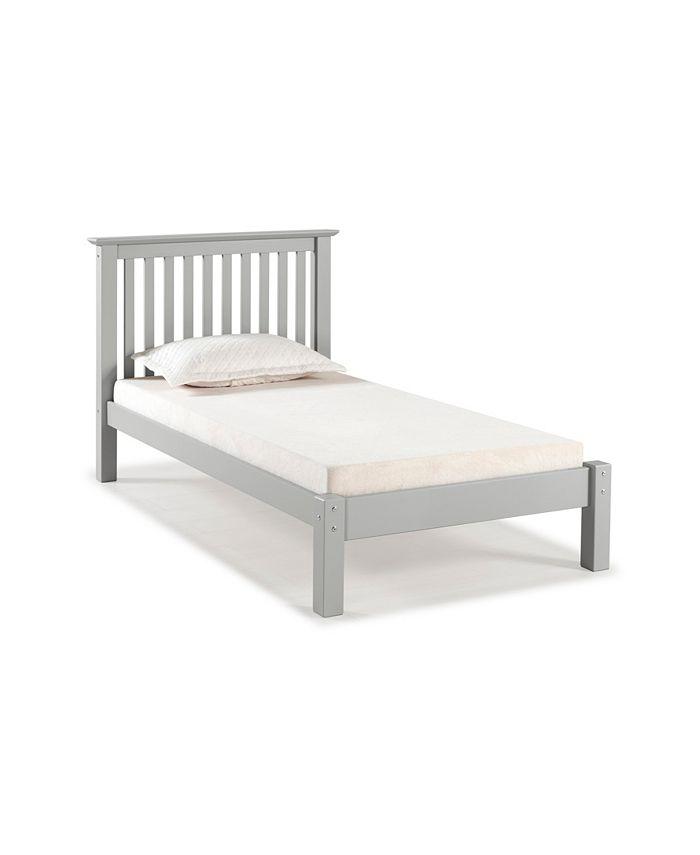 Alaterre Furniture - Barcelona Twin Bed, Dove Gray