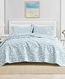 Laura Ashley Twin Mia Soft Blue Quilt Set