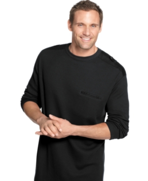 Alfani Big and Tall Shirt, Long Sleeve Waffle Crew