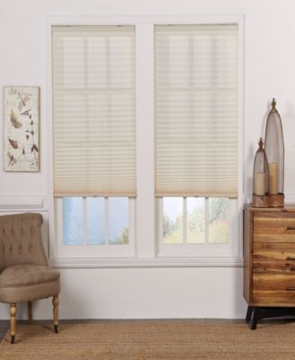 Cordless Light Filtering Pleated Shade, 36.5x72