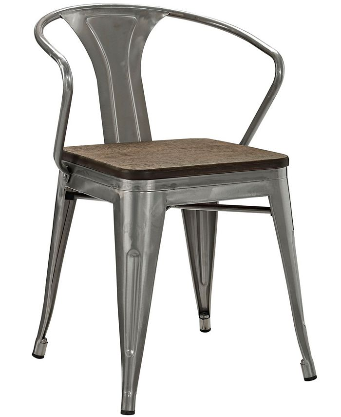 Modway - Promenade Bamboo Dining Chair in Gunmetal