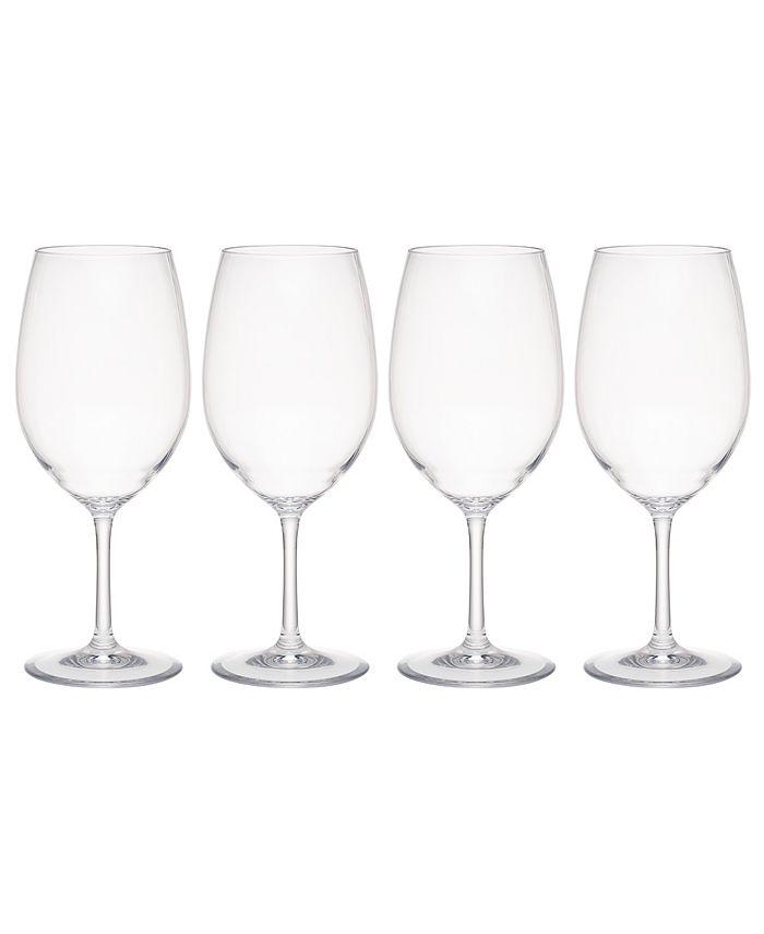 Q Squared - Hudson 21oz Tritan Acrylic 4-Pc. Red Wine Glass Set