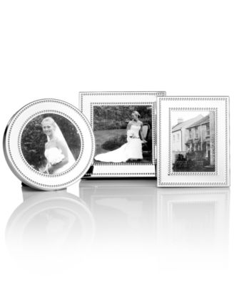 Martha Stewart Collection Picture Frames, Set of 3 Silver Bead Mini