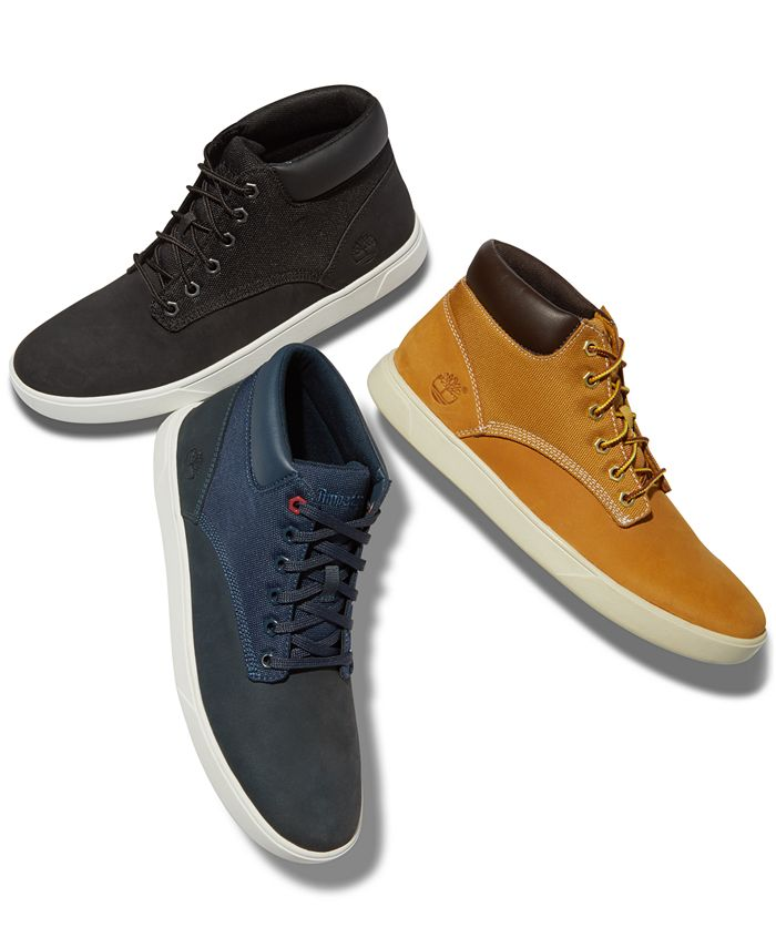 Remolque lucha Levántate  Timberland Men's Groveton Chukka Sneakers, Created for Macy's & Reviews -  All Men's Shoes - Men - Macy's