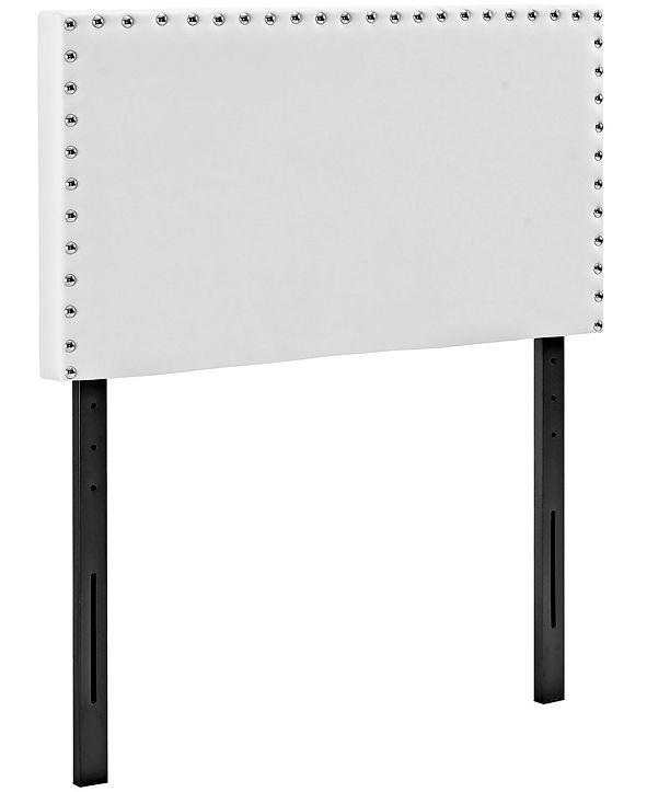 Modway Phoebe Twin Upholstered Vinyl Headboard