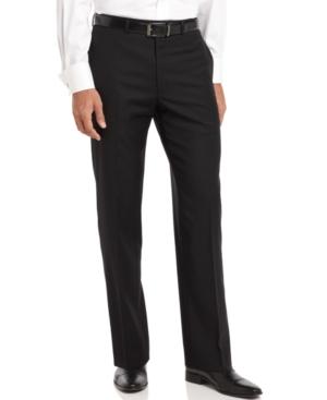 Clavin Klein Pants, Black Solid Slim Fit