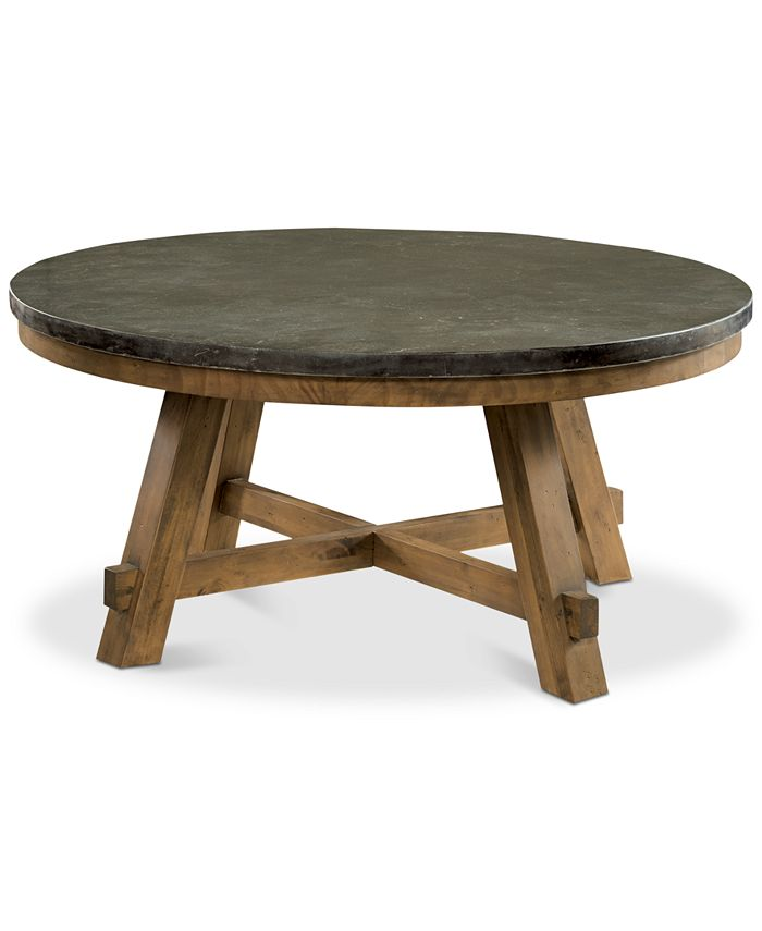 Furniture - Breslin Bluestone Round Coffee Table