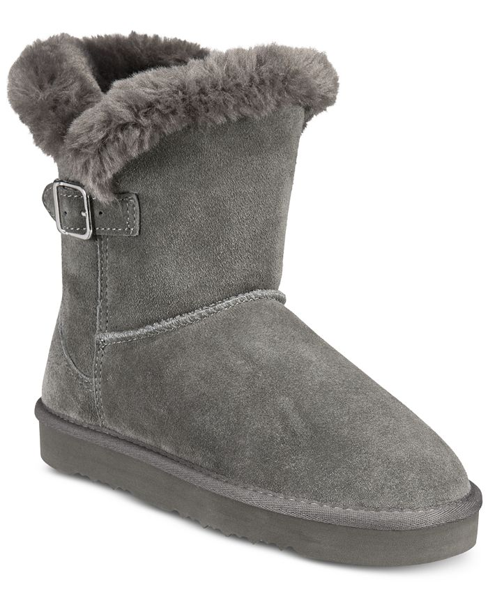 Style & Co - Tiny Low Shaft Faux-Fur Cold Weather Booties