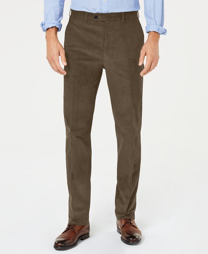 Lauren Ralph Lauren - Men's Classic-Fit Stretch Corduroy Dress Pants