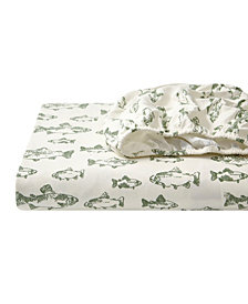 Snow Days Cotton Flannel King Sheet Set
