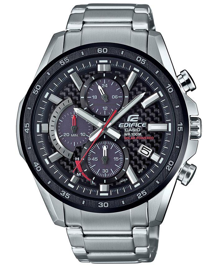 G-Shock - Men's Solar Chronograph  Stainless Steel Bracelet Watch 47.6mm