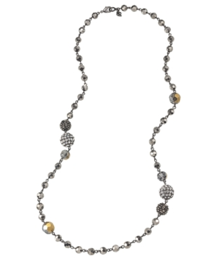 Carolee Necklace, Long Graduated Bead Necklace