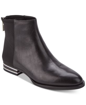 DKNY Lacey Silver-Stripe-Heeled Booties