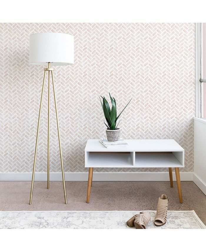 Deny Designs - Little Arrow Design Co arcadia herringbone in blush wallpaper