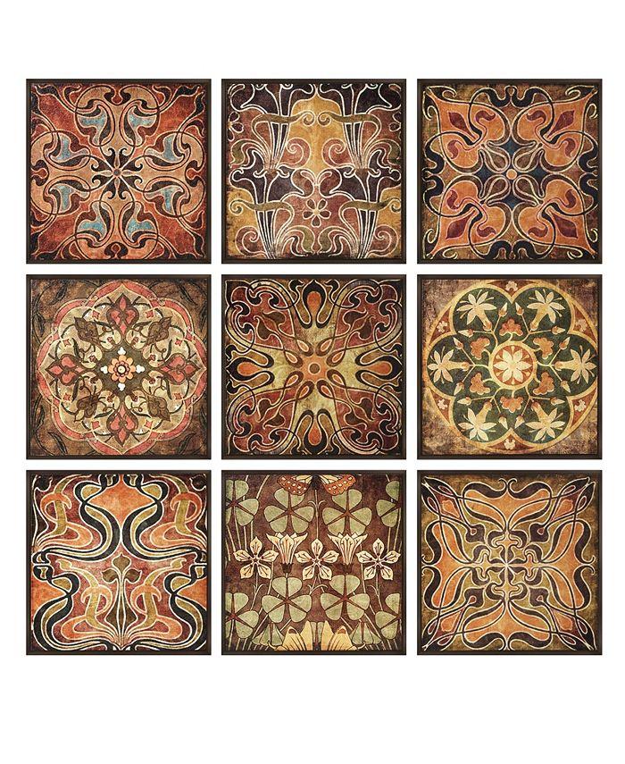IMAX - Tuscan Wall Panels - Set of 9