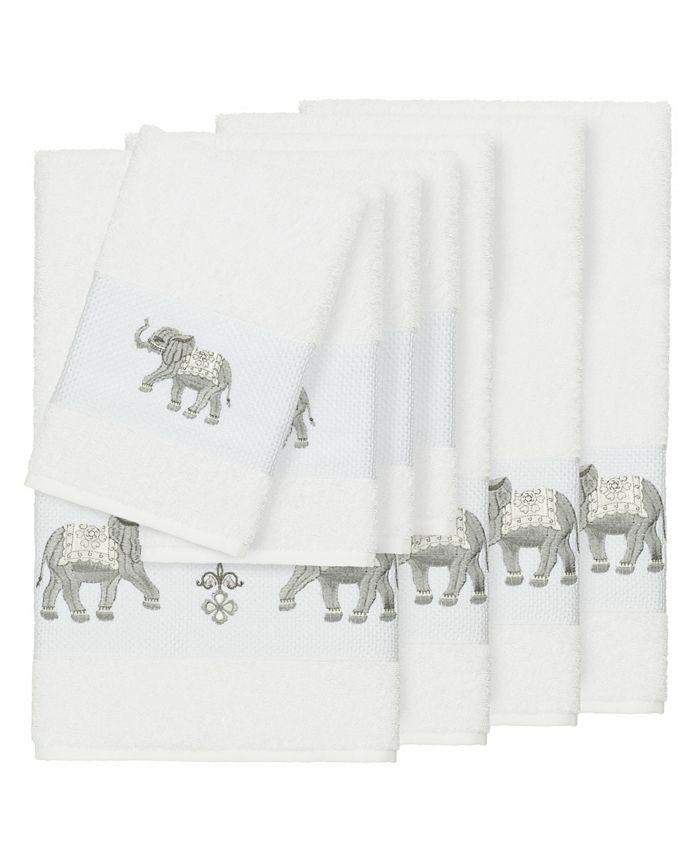 Linum Home - Quinn 8-Pc. Embroidered Turkish Cotton Bath and Hand Towel Set