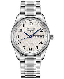 Longines Men's Swiss Automatic Master Stainless Steel Bracelet Watch 40mm