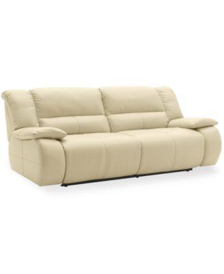 Nina Leather Dual Power Reclining Sofa Furniture Macy 39 S